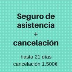 Seguro Asistencia + Cancelación 21días-1.500€