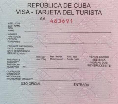 Visado a Cuba desde Estados Unidos